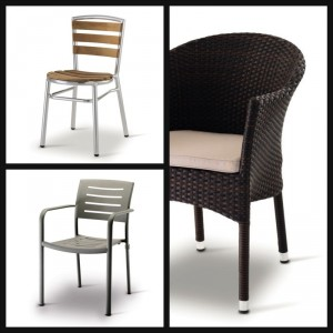 Sedie in giardino alluminio rattan plastica e legno for Sedie legno e plastica